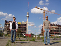 Authors of picidae in front of the TV-tower in Berlin